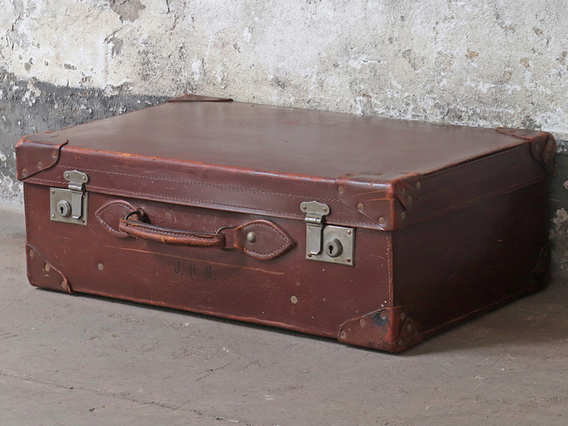 View our  Vintage Leather Suitcase from the  Sold collection
