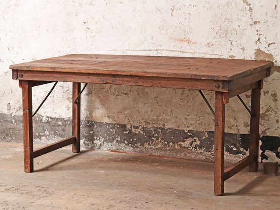 Vintage Long Wooden Table