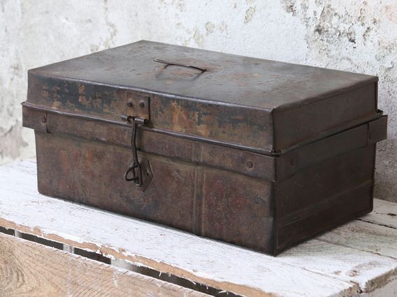 View our  Vintage Metal Box from the  Old Travel Trunks collection