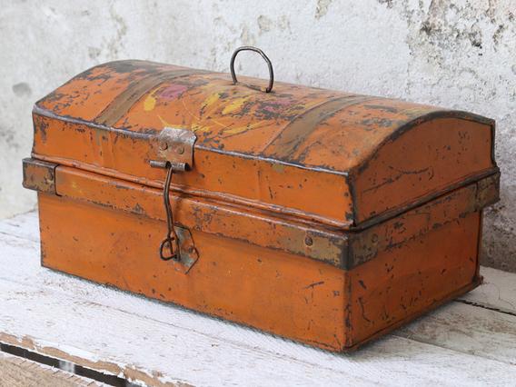 Vintage Orange Travel Case