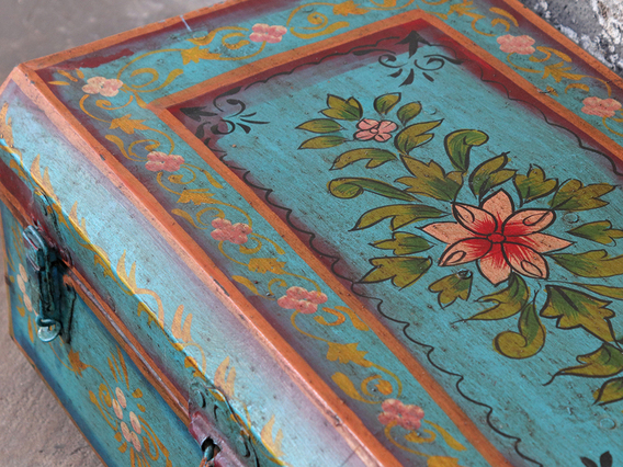 Vintage Painted Trunk