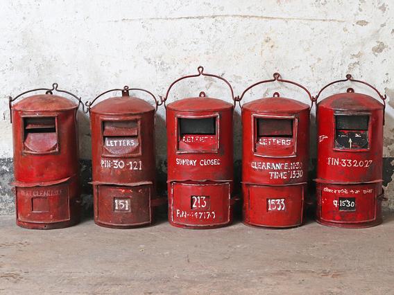 Vintage Red Post Box - Medium