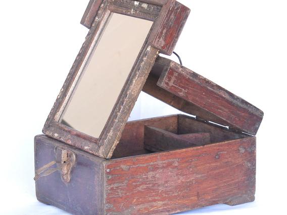 Vintage Shaving Box With Mirror