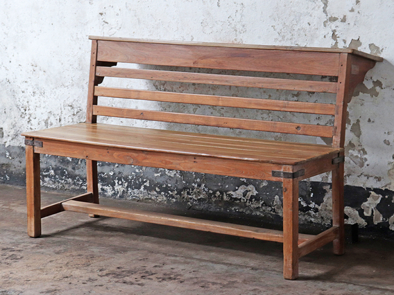 View our  Vintage Teak Church Pew from the   collection