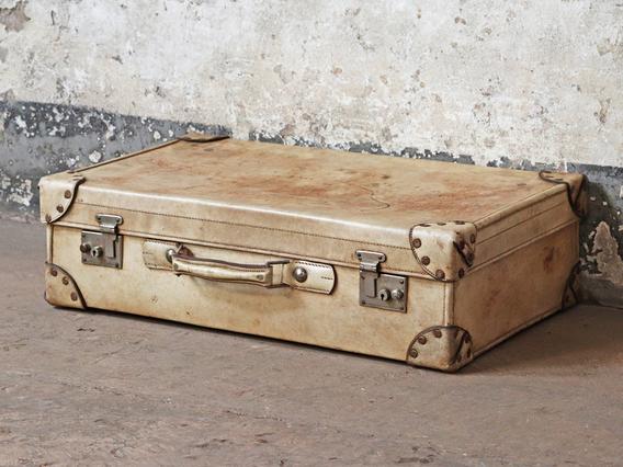Vintage Vellum Suitcase