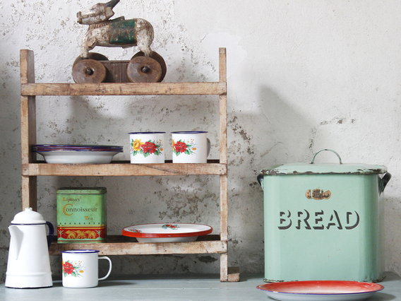 View our  Vintage White Shelving Rack from the   collection
