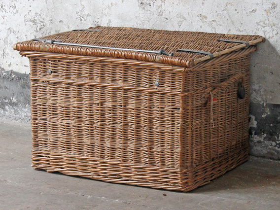 View our  Vintage Wicker Trunk from the  Old Travel Trunks collection