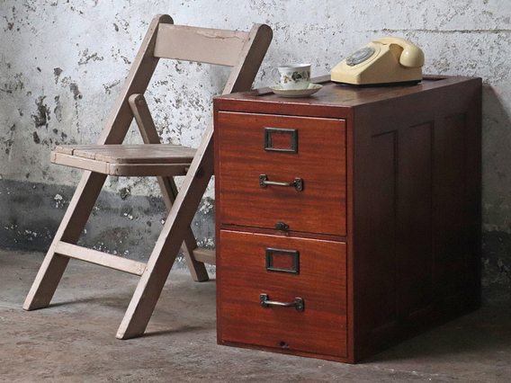 View our  Vintage Wooden Filing Cabinet from the  Sold collection