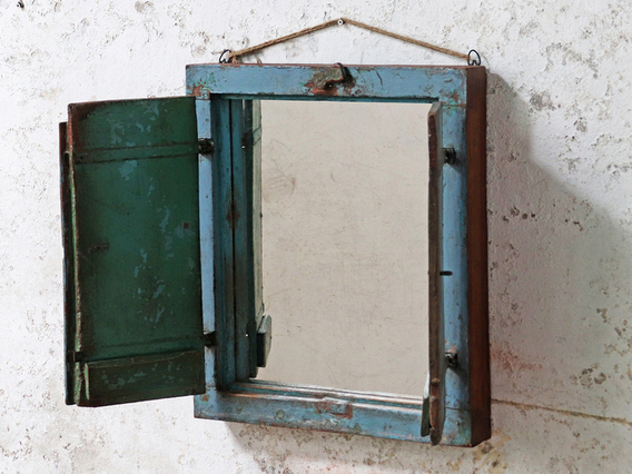 View our  Shabby-Chic Shuttered Mirror from the   collection