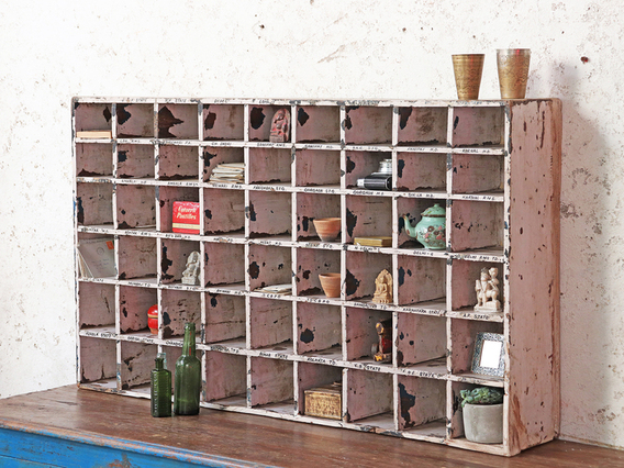 View our  Vintage Pigeon Hole Cabinet from the   collection