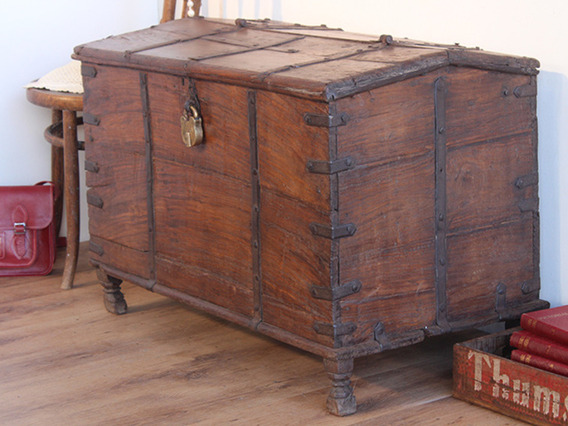 View our  Large Antique Indian Chest from the   collection