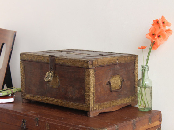 View our  Old Metal And Brass Chest WOCS80474 from the   collection