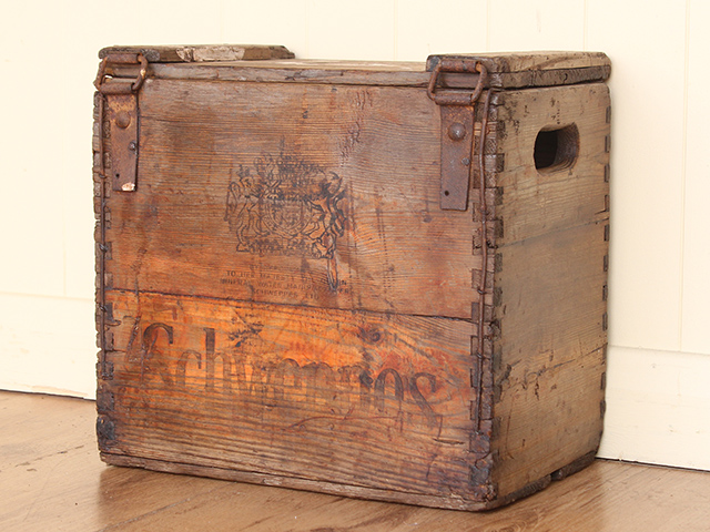 View our  Vintage Wooden Syphon Crate by Schweppes from the   collection
