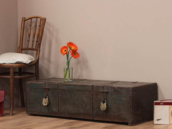 View our  Vintage Teak Chest with Metal Banding from the   collection