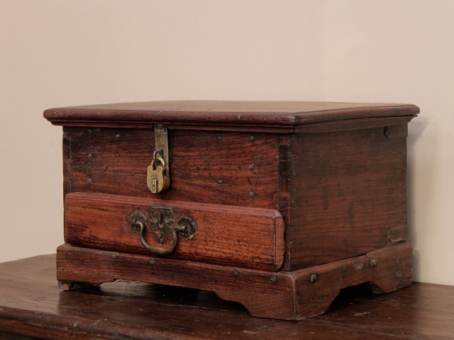 Old Wooden Stationery Box