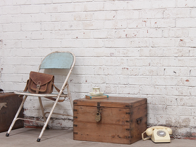 View our  Vintage Hardwood Chest With Metal Detailing With Padlock from the   collection