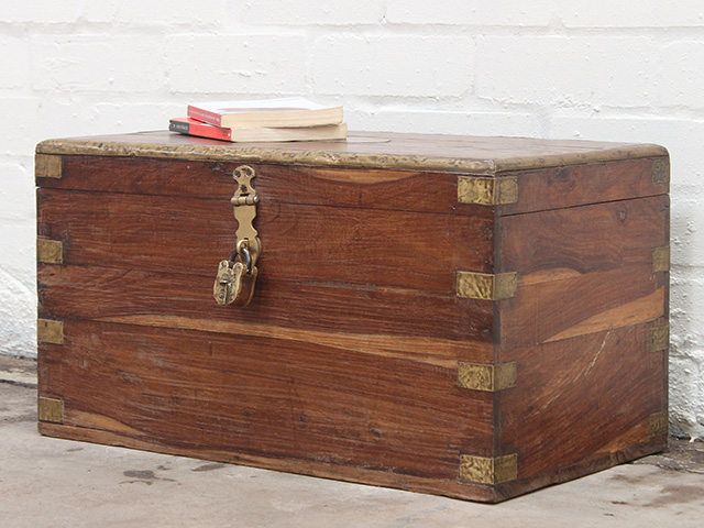 View our Women Antique Wooden Chest with Brass Padlock from the Women Sold collection