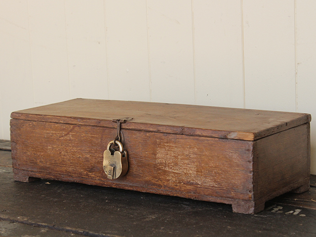 View our Women Old Teak Hardwood Box with Vintage Padlock from the Women Sold collection