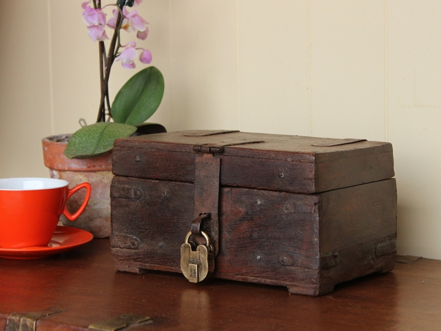 View our Women Vintage Teak Memory Box with Padlock from the Women Sold collection