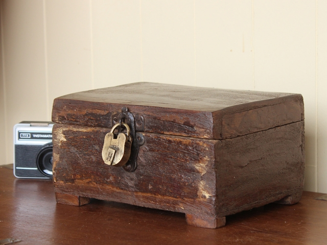 View our Women Vintage Teak Trinket Box with Padlock from the Women Sold collection