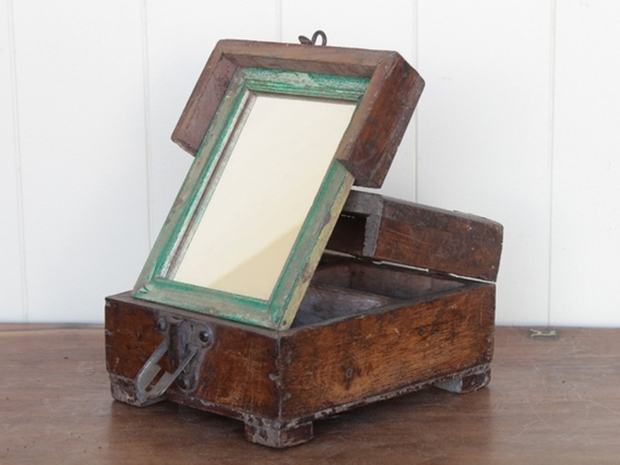 View our  Traditional Barber's Box Mirror from the   collection