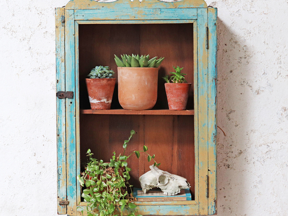View our  Rustic Blue Shelf Cabinet from the   collection