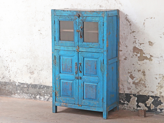 View our Narrow Blue Vintage Cupboard from the Shabby Chic Bedroom Furniture collection