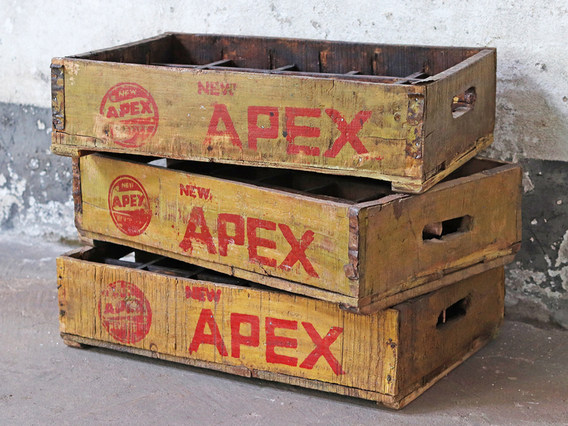 View our  Vintage Wooden Bottle Crate - Apex from the   collection