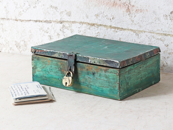 View our  Rustic Turquoise Spice Box from the   collection
