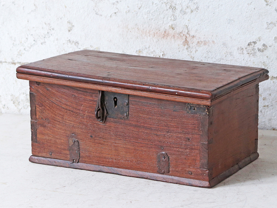 View our  Antique Wooden Treasure Chest from the   collection