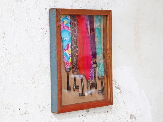 Wooden Box Frame - Blue Teak