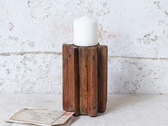 View our  Wooden Candle Holder from the  Glassware/Tableware collection