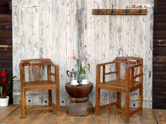 Mysore Club Teak Armchairs (set of six)