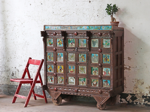 View our  Wooden Antique Damchiya from the  Hallway collection