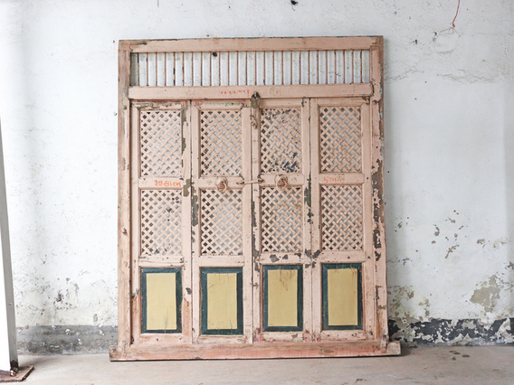 Old Doors & Room-Divider Architectural Panel