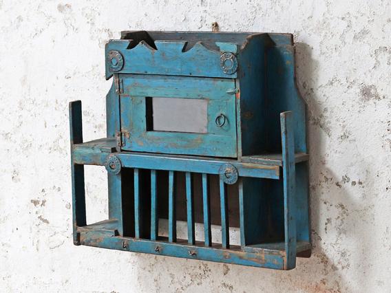 Decorative Blue Wall Cabinet