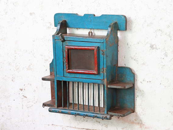 View our  Blue Vintage Wall Rack from the  Vintage Shelving collection