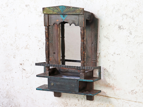 View our  Ornate Vintage Wooden Mirror from the   collection
