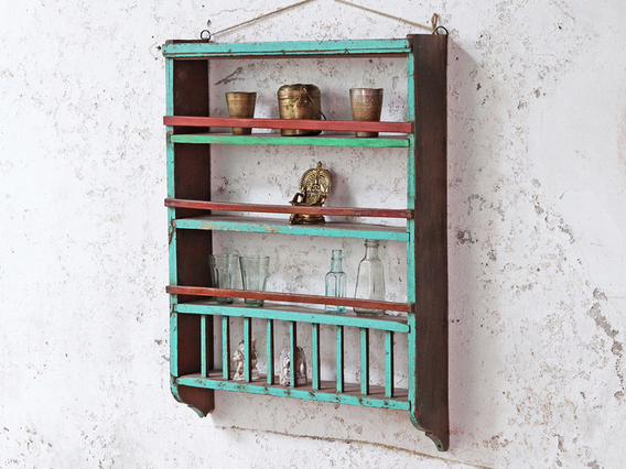 View our  Painted Vintage Shelving Rack from the   collection