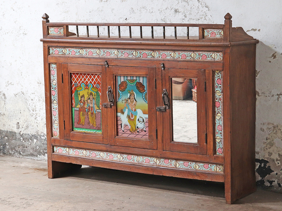 Ornate Antique Indian Sideboard