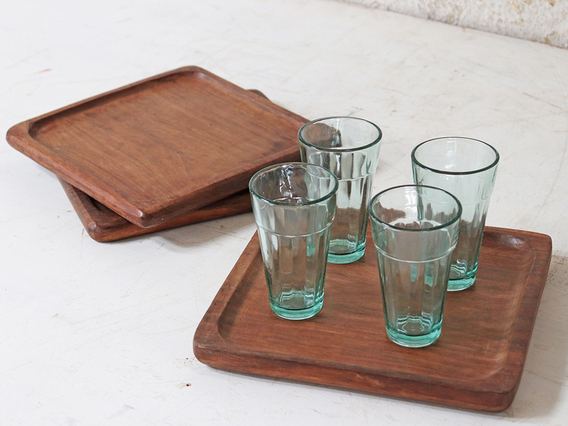 Old Wooden Tray - Square