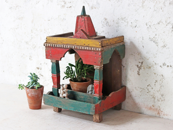 Colourful Temple Display Stand