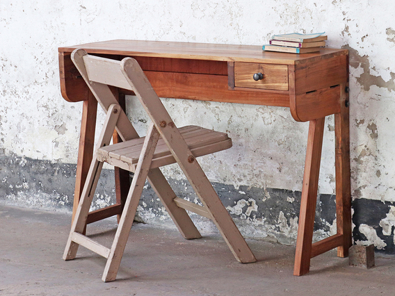 View our  Small Wooden Desk from the  Hallway collection