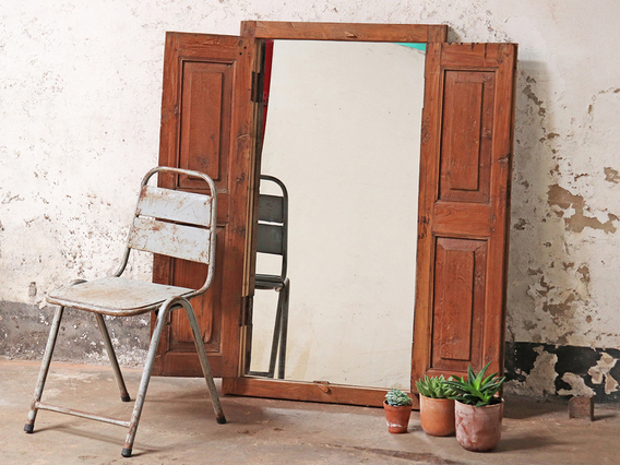 View our  Large Ornate Rustic Mirror from the   collection