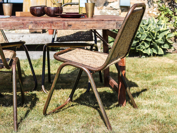 Woven Vintage Stacking Chair