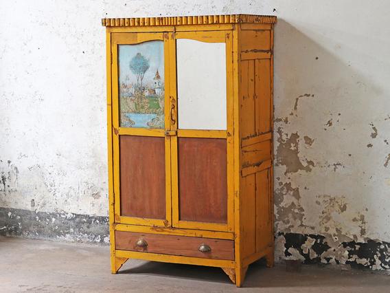 Yellow Vintage Armoire