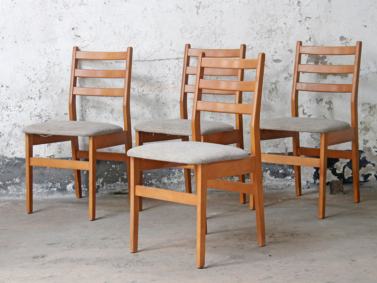 Retro dining chairs by macintosh