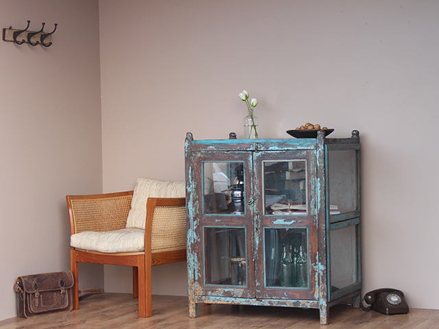 Distressed Vintage Glass Display Cabinet - Distressed Vintage Glass Display Cabinet - Sold - Scaramanga