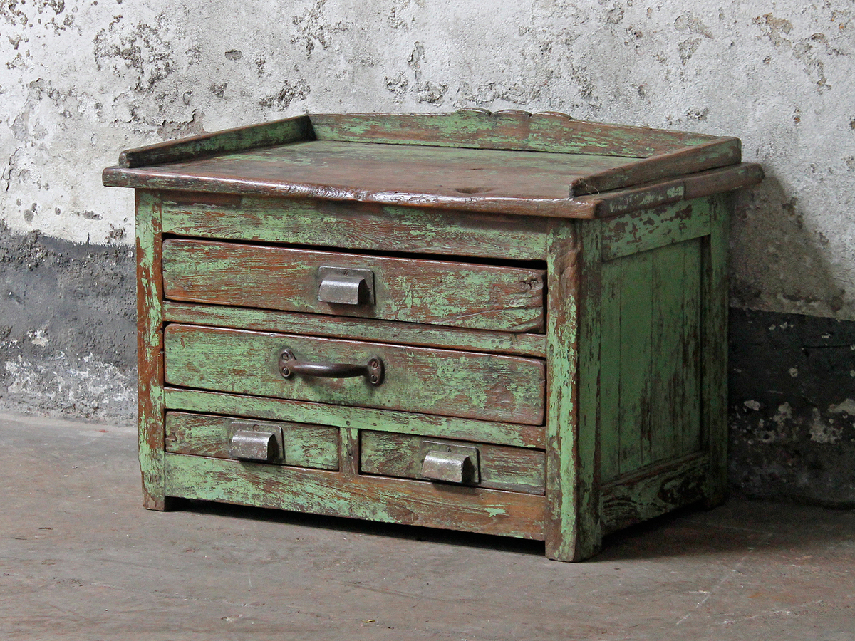 Green Vintage Side Table Vintage Chest Scaramanga