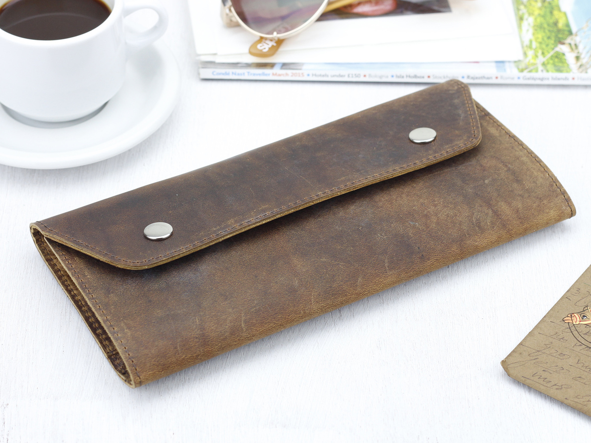 Leather Travel Wallet Scaramanga Travel Accessories